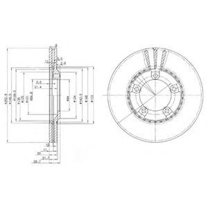 Гальмівні(тормозні) диски  арт. BG3071