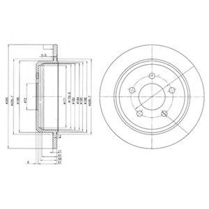 Гальмівні(тормозні) диски  арт. BG3073