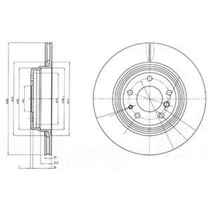 Гальмівні(тормозні) диски  арт. BG3213