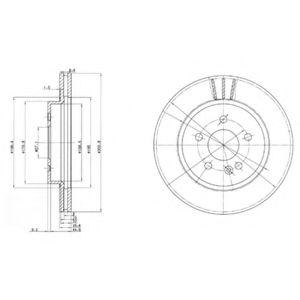 DELPHI DB Диск тормозной передн. (вентил.) W163 (ML-klasse)  (303*26) DELPHI BG3397