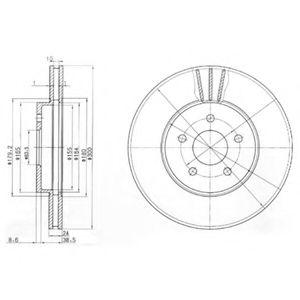 Гальмівний диск  арт. BG3537
