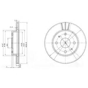 Тормозной диск  арт. BG3555