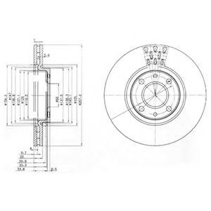 Гальмівні(тормозні) диски  арт. BG3574