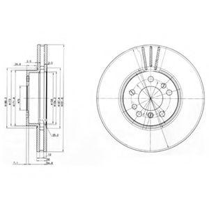 DELPHI BMW Диск тормозной передн.X5 E53 00- DELPHI BG3628