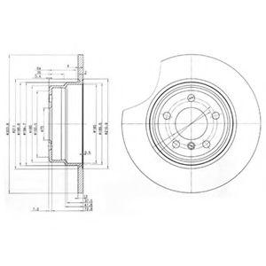 DELPHI BMW Диск тормозной задн.X5 (E53) (324*12) DELPHI BG3629
