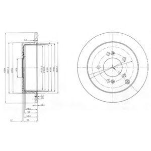 Гальмівний диск  арт. BG3680