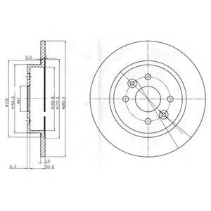 DELPHI KIA Диск тормозной задний Shuma 1.5/1.8 97- DELPHI BG3804