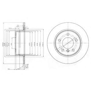 Гальмівний диск  арт. BG3948