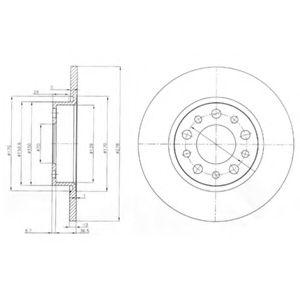 Гальмівні(тормозні) диски  арт. BG3994
