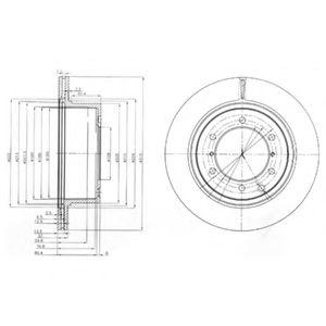 Гальмівні(тормозні) диски  арт. BG4014