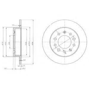 Гальмівні(тормозні) диски  арт. BG3862