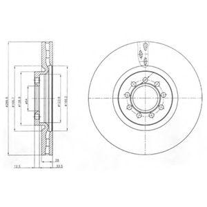 DELPHI FIAT Диск тормозной передн.Iveco Daily III 05- DELPHI BG4101