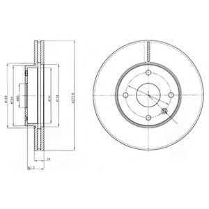Гальмівні(тормозні) диски  арт. BG4193