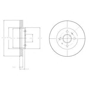 Гальмівні(тормозні) диски  арт. BG4213