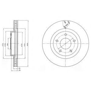 Гальмівні(тормозні) диски  арт. BG4246