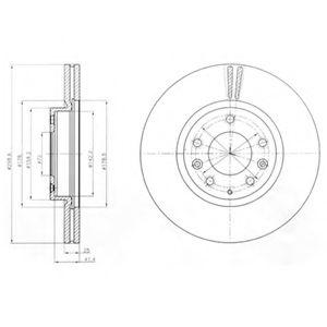 DELPHI MAZDA Тормозной диск передн. Mazda 6 07- DELPHI BG4255