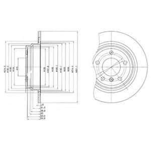 DELPHI BMW Диск тормозной задн.E39 2,0-2,5 (298*10) DELPHI BG3044