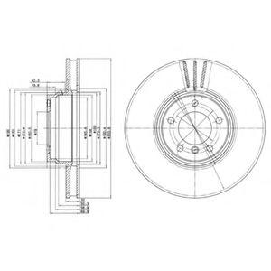 Гальмівні(тормозні) диски  арт. BG9212