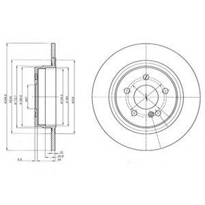 DELPHI DB Диск тормозной задн.W204 07- DELPHI BG4153