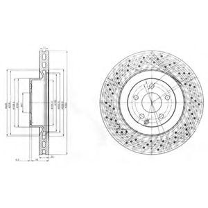 DELPHI DB Тормозной диск передний S Klass W221 05- DELPHI BG9057