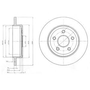 Тормозной диск  арт. BG4160