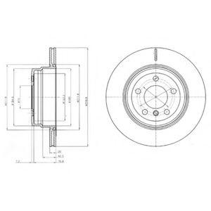 DELPHI BMW Диск тормозной задн.X5 E70 07-,F15 13-,X6 E71 08-,F16 14- DELPHI BG4168