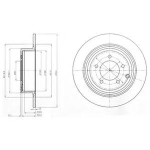 Гальмівні(тормозні) диски  арт. BG4169