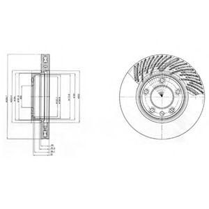 Фото - Гальмівний диск DELPHI - BG9949