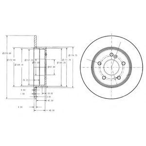 DELPHI DB Диск тормозной задний W124/202/203/210 (278*9) DELPHI BG3326C