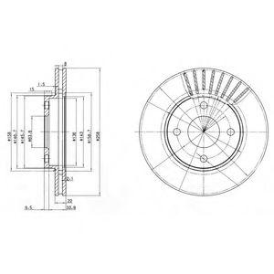 Гальмівний диск  арт. BG3359C