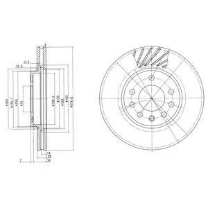 DELPHI OPEL Диск тормозной передн.вент.лакиров.! Astra G/H,Meriva DELPHI BG3405C