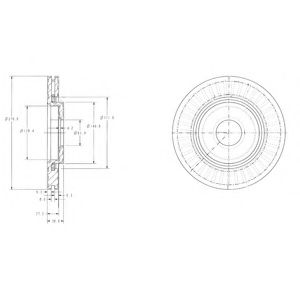 DELPHI CITROEN Диск тормозной передн.Berlingo, C2/3/45 Peugeot Partner/206/307 (266*22) DELPHI BG3620C