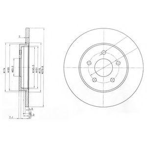 Гальмівний диск  арт. BG3663C