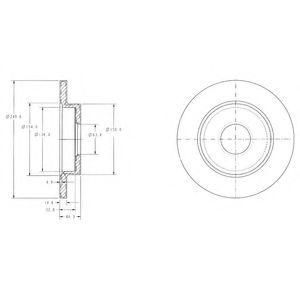 Тормозной диск MINTEX арт. BG3673C