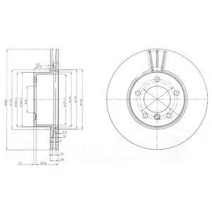 DELPHI BMW Тормозной диск передн.E81/87/90/91/92  (300*24) DELPHI BG3998C