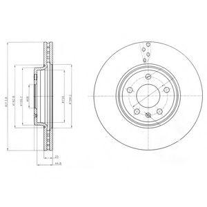 DELPHI AUDI Диск тормозной передний (314мм) A4 07-, A5 DELPHI BG4079C