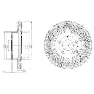 DELPHI DB Диск тормозной передн.W204 1.8/2.2 0 07- DELPHI BG4142C
