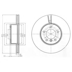 DELPHI BMW Тормозной диск передн.3 E90  07- DELPHI BG4172C
