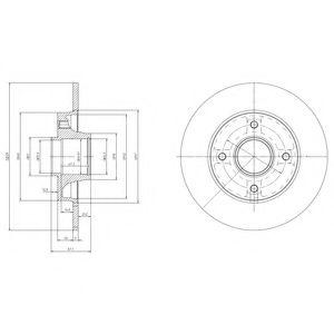 DELPHI CITROEN Диск тормозной задн (c подш, с кольцом ABS) Citroen C3,C4 Peugeot 207,307  (249*9*25) DELPHI BG9021RSC