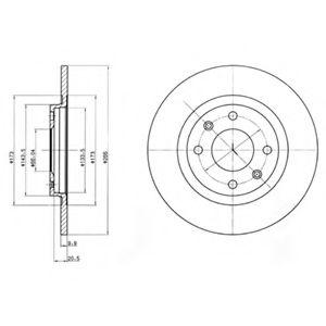 DELPHI CITROEN Диск тормозной передн.BX 81-, Peugeot 305,405 87- DELPHI BG2308