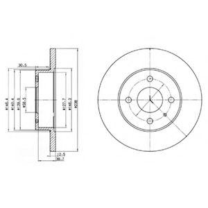 Гальмівні(тормозні) диски  арт. BG2312