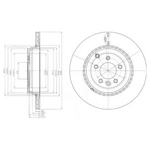 DELPHI LANDROVER Диск тормозной задн.Range Rover Sport 09- DELPHI BG9082C