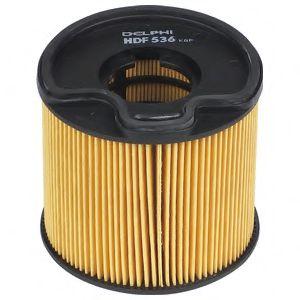 DELPHI CITROEN Фильтр топливный H=75mm Berlingo,Jumpy,Fiat Scudo,Peugeot,Suzuki 2.0HDI 00- DELPHI HDF536