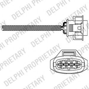 DELPHI OPEL Лямбда-зонд Astra G/H,Meriva,Vectra C,Zafira B 1.6 00- DELPHI ES1079112B1