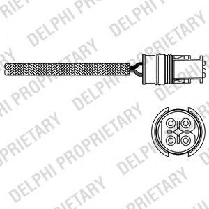 DELPHI DB Лямбда-зонд ML W163,Vaneo,A-Class W168,Smart 97- DELPHI ES2031212B1