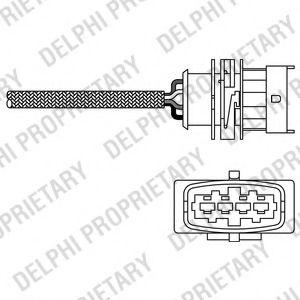 DELPHI OPEL Лямбда-зонд (4 конт.) OPEL Astra G/Corsa C1,4i/Vectra C 1,6i/Zafira 1,6i DELPHI ES2029112B1