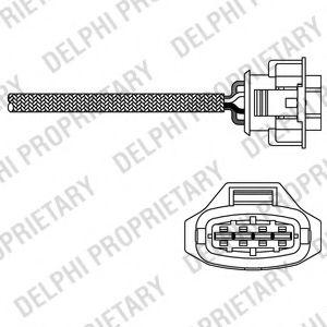 DELPHI OPEL Лямбда-зонд (4-х конт.) Astra G/H,Zafira A/B,Saab 2.0 98- DELPHI ES2031412B1
