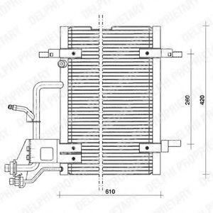 Радиатор кондиционера DELPHI TSP0225011