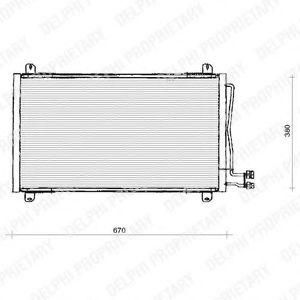 Радиатор кондиционера DELPHI TSP0225125