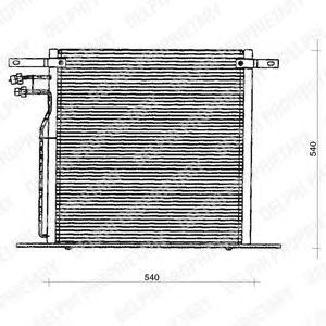 Радиатор кондиционера DELPHI TSP0225126